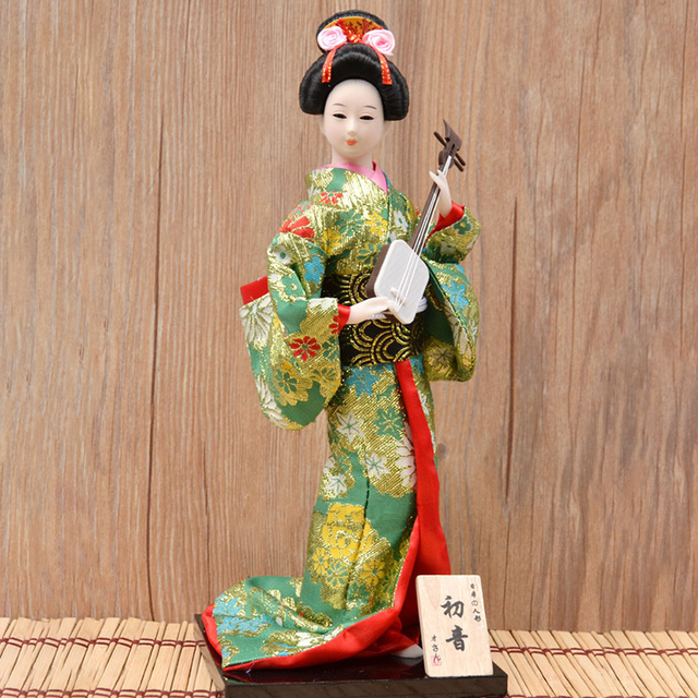 30cm Japanese Kimonos Dolls Traditional Japanese Geisha Figurines Statues Ornaments Home Restaurant Desktop Decoration Gifts 5