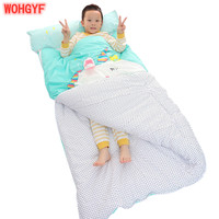 Cartoon animal cotton baby sleeping bag winter toddler girl boy child/kids Warm sleep bags Unicorn Bear Anti kick quilt