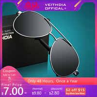 VEITHDIA gafas de sol para hombre gafas de sol polarizadas para hombre gafas de sol masculino para hombre 1306