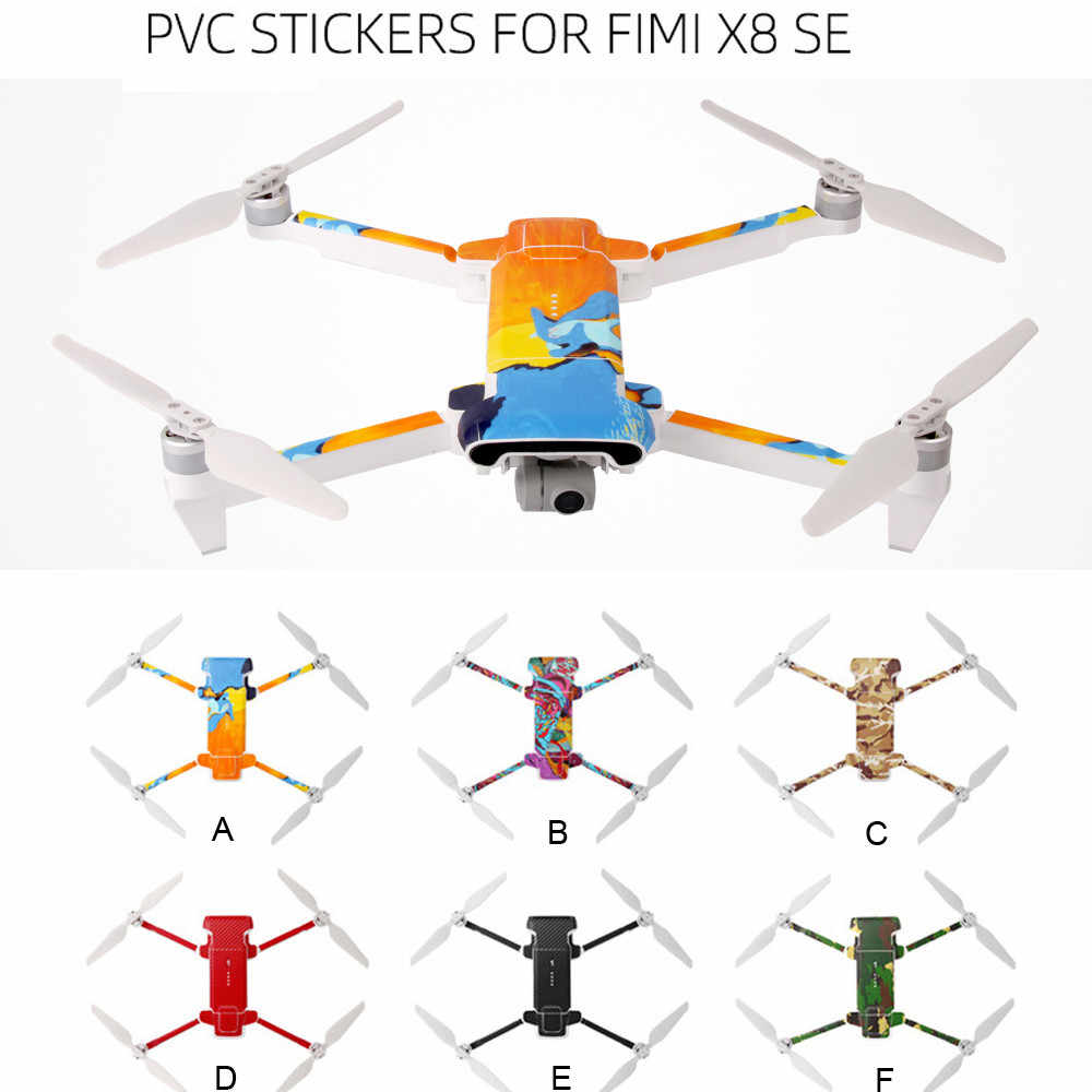 Waterproof PVC Stickers Decal Skin Cover Protector For XIAOMI FIMI X8 SE Drone