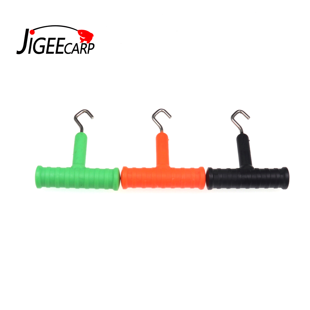 Carp Fishing Knot Puller Carp Hair Making Tools Hook Stainless Steel Fishing Line Knot Puller Carp Rigs Fishing Accessories
