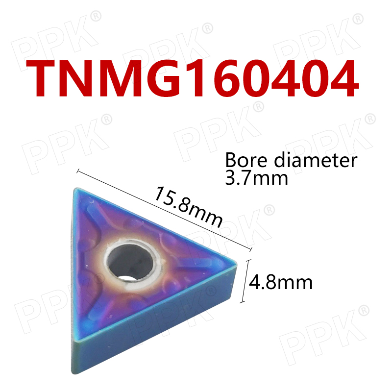 10pcs TNMG160404 Nano-blue coating External Turning Tools Carbide inserts Cutting Tool for Lathe tool <font><b>TNMG</b></font> <font><b>160404</b></font> lathe tools image