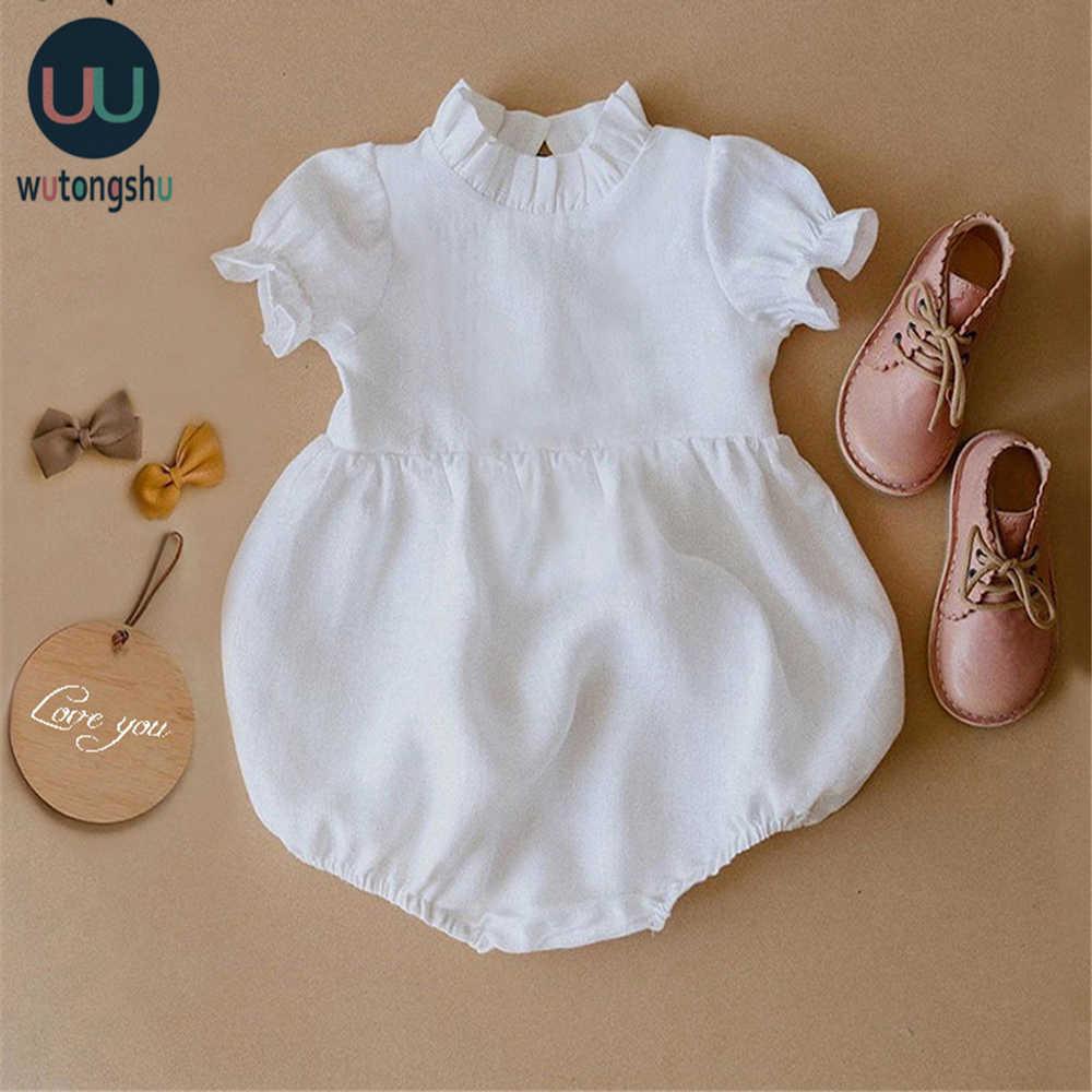 Summer Baby Girl Rompers Princess Newborn Kids Clothes Girls Sleeveless Jumpsuit