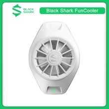 Oryginalny czarny rekin wentylator chłodzący z klipsem z tyłu type c Bass Mini urządzenie promieniujące Super Bluetooth kompatybilność App dla IOS/Android