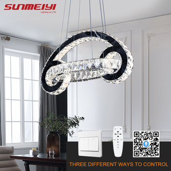 Creative LED Chandeliers For Kitchen Light Fixture Post Modern Chandelier Dimmable Crystal Lamp Loft Bedroom With Remote Control zx modern led crystal chandelier creative lower power eye protective with 8 bulbs gu10 for parlor bedroom restaurant lamp