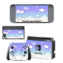 Pegatinas de piel para Nintendo Switch, pegatinas para consola Nintendo Switch y Joy Con, color blanco puro