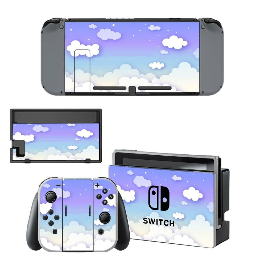 Pure White Cloud Nintendo Switch Skin Sticker NintendoSwitch Stickers Skins For Nintend Switch Console And Joy-Con Controller