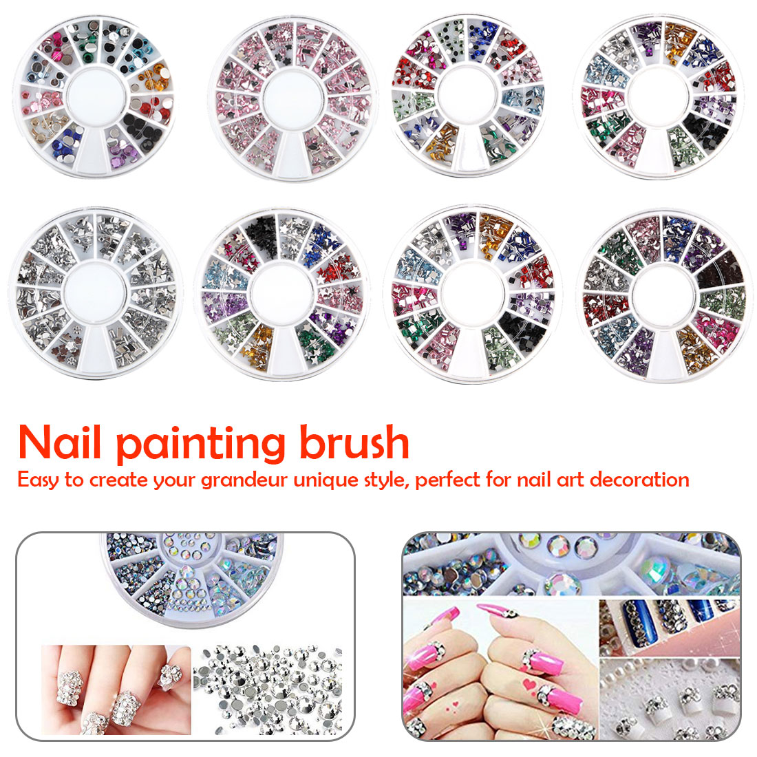 1Pcs/Sell Super Bright Round Ultrathin Sequins Colorful Nail Art Glitter Tips UV Gel 3D Nail Decoration Manicure DIY Accessorie