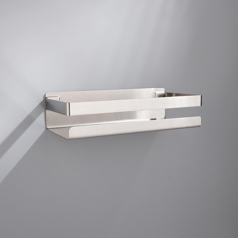Bathroom Shelf 304 Stainless Steel Shower Rack Corner Shelf Square Bath Shower Wall Mounted Storage Organizer Rack