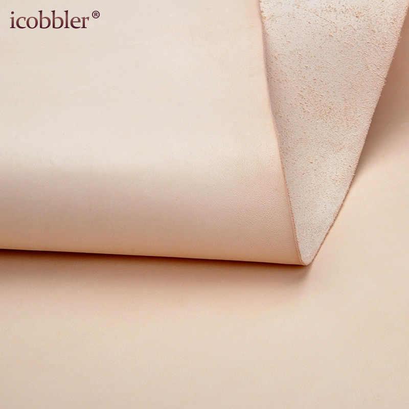 本物の、財布作る牛皮 Diy ベルトタン野菜なめし材料芸術工芸品 & 縫製ツールアクセサリー