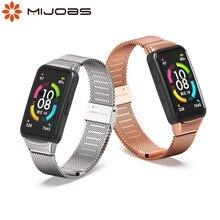 Correa para Huawei Honor Banda 6 pulsera inteligente pulsera de la correa de reloj de repuesto para Huawei Banda 6 de la correa de muñeca banda de Metal
