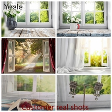 Yeele Photophone zdjęcie tło wiosna okno słońce drewniana płyta dziecko Vinyl fotografia tło Photocall dla Photo Studio