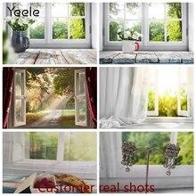 Yeele fotofono foto sfondo primavera finestra sole plancia di legno bambino vinile fotografia sfondo Photocall per Studio fotografico
