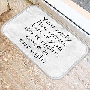 Image 5 - 40 * 60cm Alphabet Geometric Non slip Suede Carpet Door Mat Kitchen Living Room Floor Mat Home Bedroom Decorative Floor Mat   ..