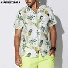 INCERUN Male Clothes Beach Vacation Camisa Tropical Shirts H