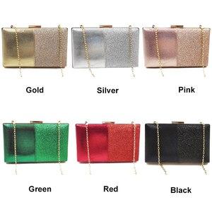 Image 4 - Pochette en cuir Design pour femmes, pochette de soirée, pochette et sac à main rose, sac en Patchwork, sac pour fêtes de mariage, ZD1178