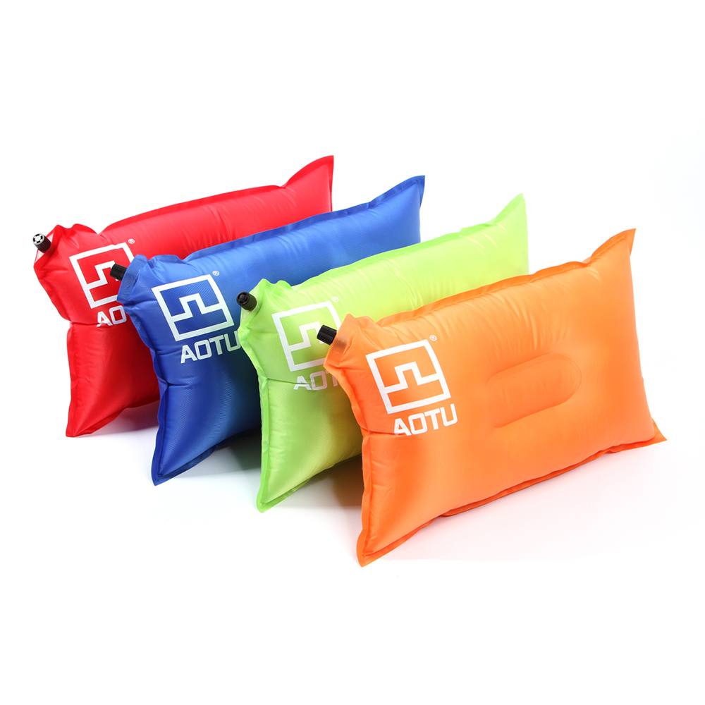 Outdoor Portable Camping Pillows Automatic Inflatable Pillow Camping Tent Air Pillow Neck Camping Sleeping Gear Travel Pillows