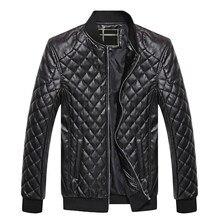 PUIMENTIUA Mens Leather Jackets Autumn Winter PU Coat Men Plus Velvet Outerwear Biker Motorcycle Male Classic Black Jacket M-4XL
