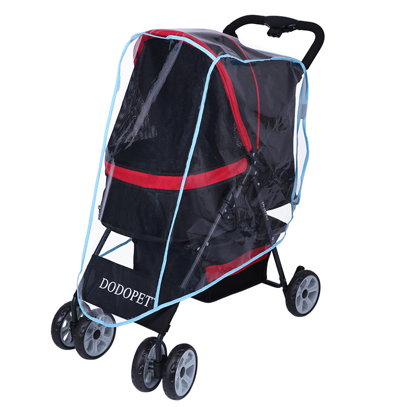 Pet Stroller Rain Cover Stroller Rain Cover Cart Rain Cover for All Kinds of Cat and Dog Carts 16