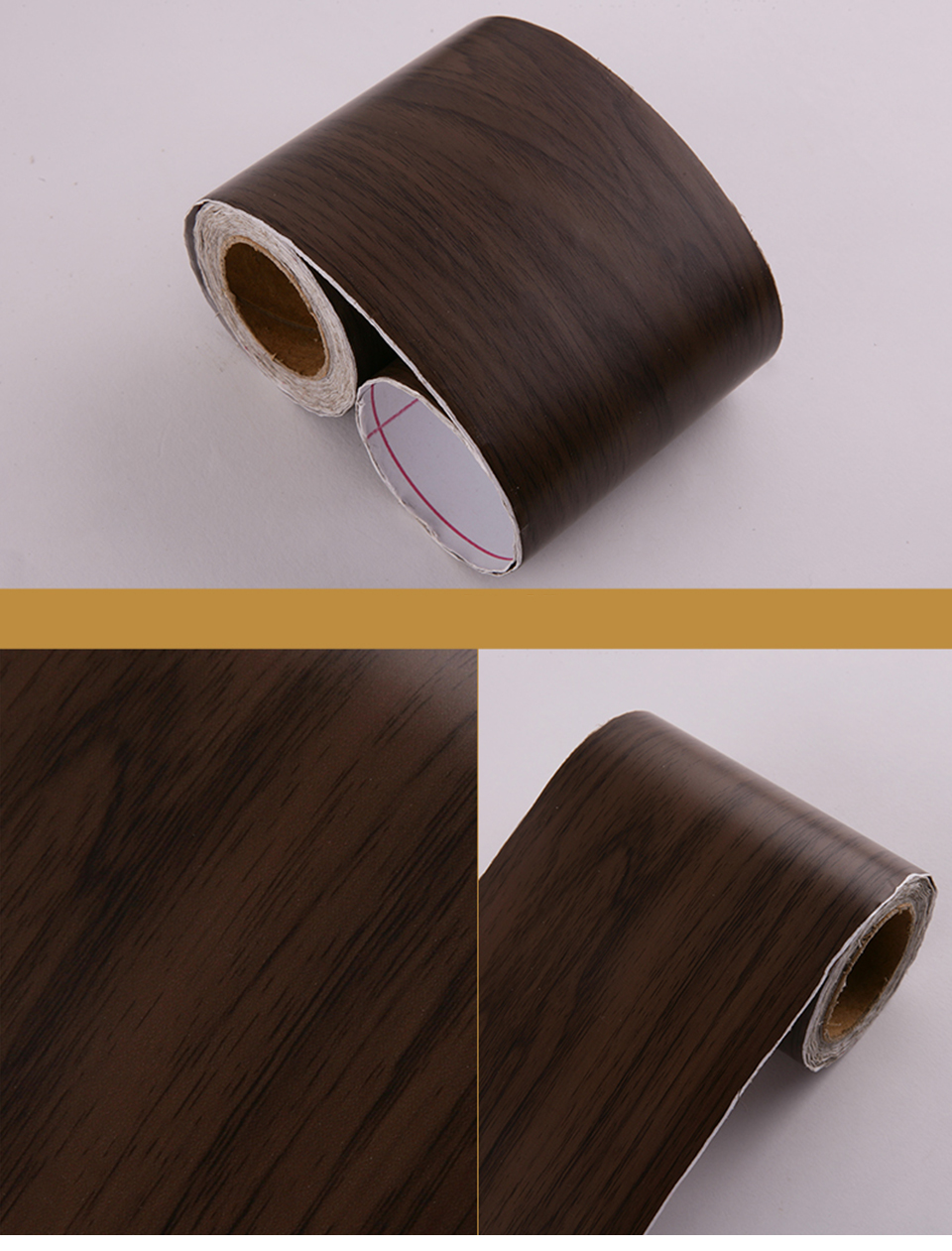 Wood Self Adhesive Window Decal Living Room Floor Border Skirting Contact Paper Waterproof Waist Line Wallpaper Home Improvement Hf7240d6d31a84e5eb4e0ab5815c74d85g