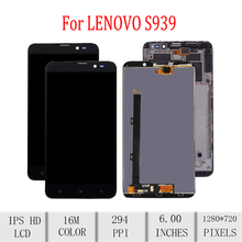 цены Original For LENOVO S939 LCD Display Touch Screen Digitizer Assembly For Lenovo S939 Display with Frame Replacement S939t Screen