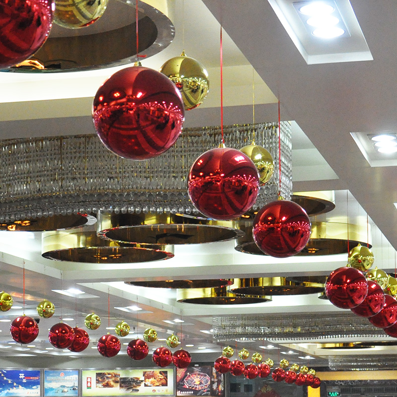 30cm 40cm Christmas Ball Ornaments Large Hanging Balls Baubles Mall Scene Decorative Colorful Balls Home Party Ornament Decor