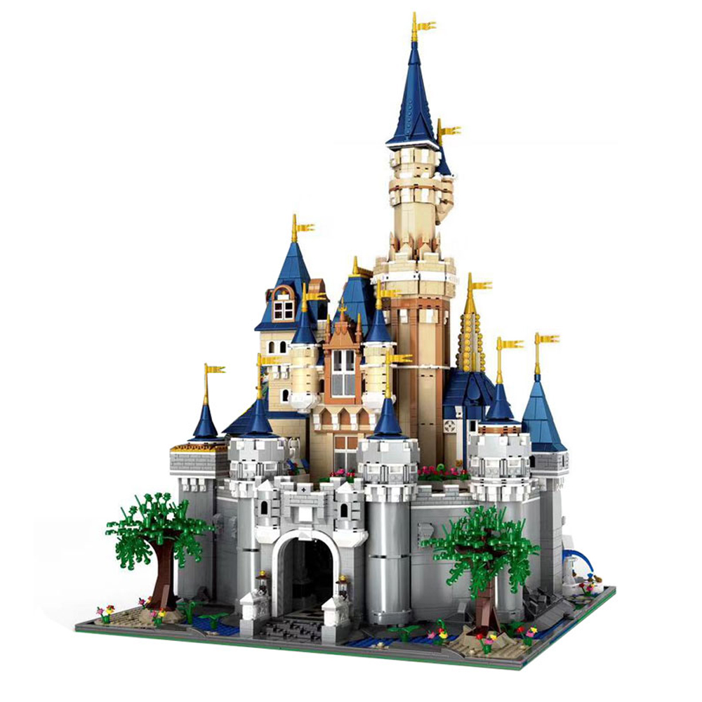 <font><b>13132</b></font> Movie Series Cinderella Princess Castle 71040 Model Building Blocks Toys For Kids Bricks Assembly Christmas Gifts 16008 image