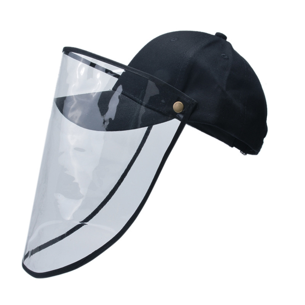 Transparent Plastic Safety Faces Shields Cap Anti-saliva Transparent Durable Lightweight Protective Face Cover For Women Men