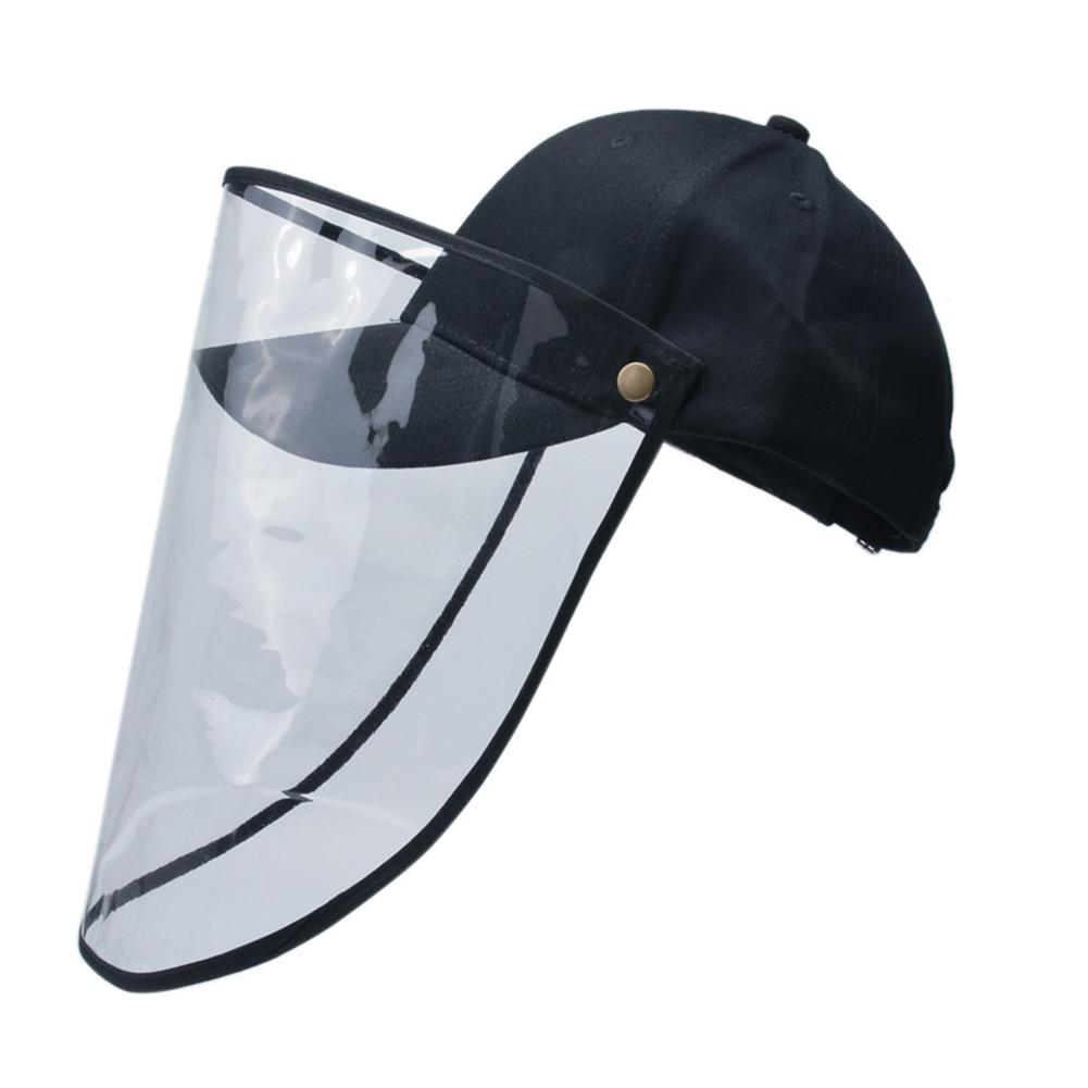 Transparent Plastic Safety Faces Shields Cap Anti-saliva Transparent Durable Lightweight Protective Face Cover For Women Men
