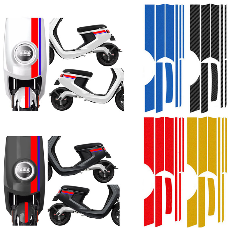 Modified Reflective Stickers Strip For NIU Electric Motorcycle DIY Decorative Waterproof Striped Flower Sticker Motorcycle Parts