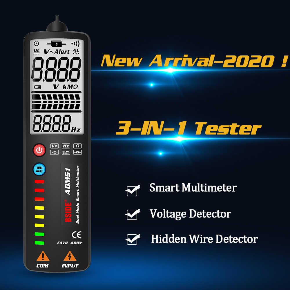 BSIDE 2.4 ''LCD كاشف جهد اختبار عدم الاتصال الكهربائية القلم الفولتميتر المتعدد NCV لايف/محايد هرتز أوم اختبار الاستمرارية