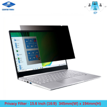 15.6 inch Laptop Privacy Filter Screen Protector Film for Widescreen (16:9) Notebook LCD Monitors