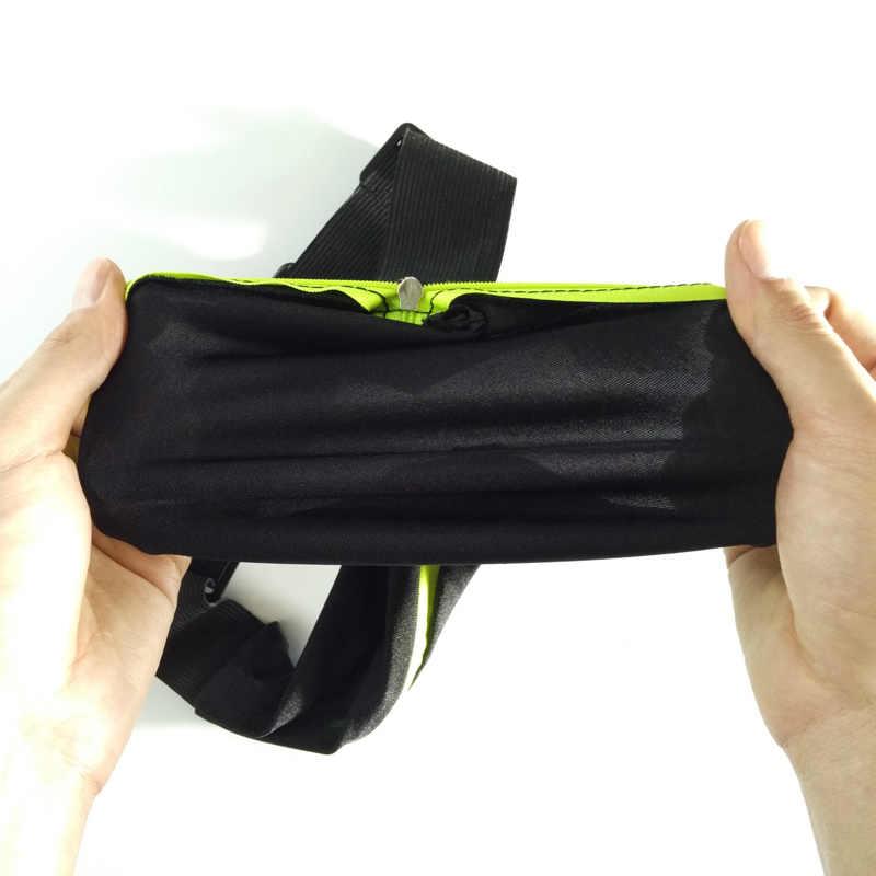 حقيبة رياضية تشغيل الخصر حقيبة جيب الركض المحمولة مقاوم للماء الدراجات محفظة تربط حول الخصر في الهواء الطلق الهاتف مكافحة سرقة حزمة حزام أكياس