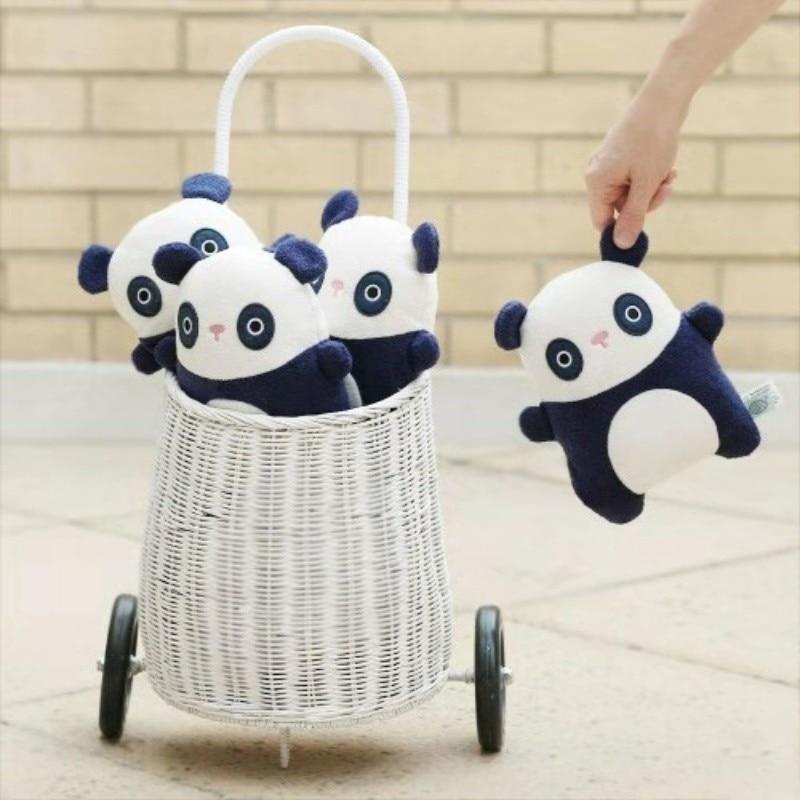 2020 Rattan Stroller Shopping Basket for ChildrenOutdoor Lunch Picnic Box Handmade Woven Storage Basket Garden Cart Rattan Bag