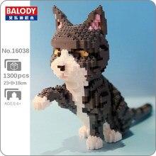 Balody 16038 Persische Katze Grau Kätzchen Tier Pet 3D Modell DIY Mini Diamant Blöcke Ziegel Gebäude Spielzeug für Kinder keine box