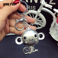Rhinestone Hip Hop Monkey Key Chain Pendant Decoration Car Ring Lovely Couple Waist Drill Keychain