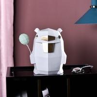 Nordic geometric bear piggy bank creative home living room children's study bedroom model room cartoon ornaments
