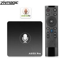 Caixa de tv android google play smart tv box a95x pro 2g 16g android 7.1 controle de voz 2.4g wifi pk h96max x96 4k hd 3d caixa de android