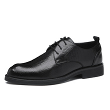 2020 Mannen Jurk Schoenen Handgemaakte Britse Zakelijke Stijl Paty Lederen Bruiloft Schoenen Mannen Flats Leer Oxfords Formele Schoenen