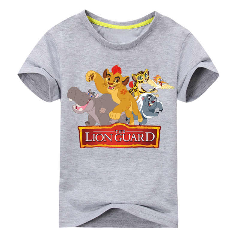 Abbigliamento per bambini T-Shirt carino The King of Lion Guard Simba T shirt Tee for Boys Girls T-Shirt a maniche corte Tee top Toddler