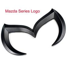 Black Zinc Alloy Auto Car 3D Evil M Batman Cool Metal Emblem Logo Front Rear Badge Grid Sticker for Mazda M2 M3 M5 M6 Car-stying