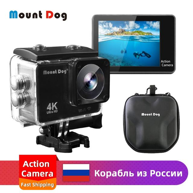 MountDog Underwater Ultra HD 4K Action Camera With WiFi Sports Video Recoding Waterproof Action Cam