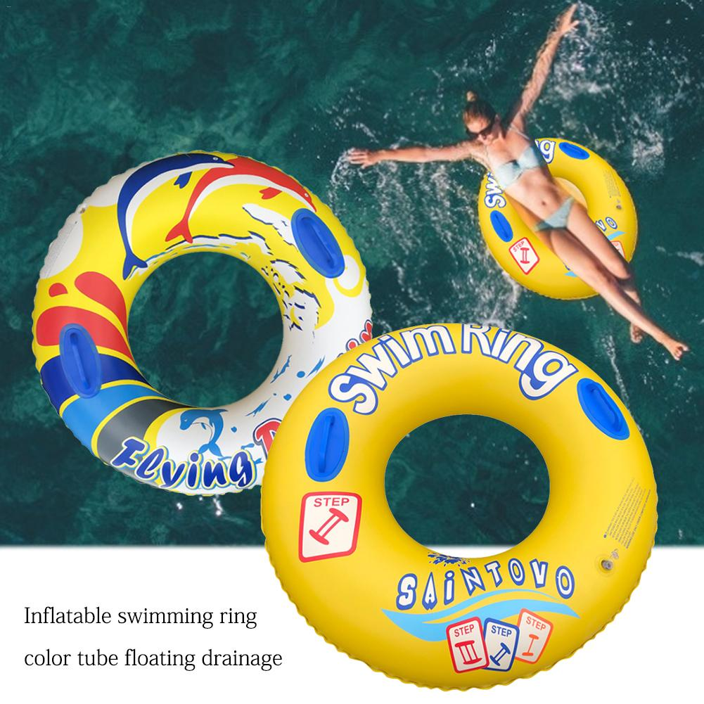 Inflatable Swimming Ring Color Tubes Floating Row Water Toys Inflatable Pool Float Circle For Children Outdoor Toys