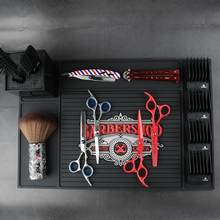 Salão de beleza almofada antiderrapante tapete de armazenamento cabeleireiro cabeleireiro acessórios antiderrapante almofada para cuidados com o cabelo estilo