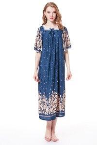 Image 3 - Lato panie bawełna, jedwab długi Plus rozmiar bielizna nocna księżniczka koszula nocna może nosić poza salon wakacje podróży plaży sukienka