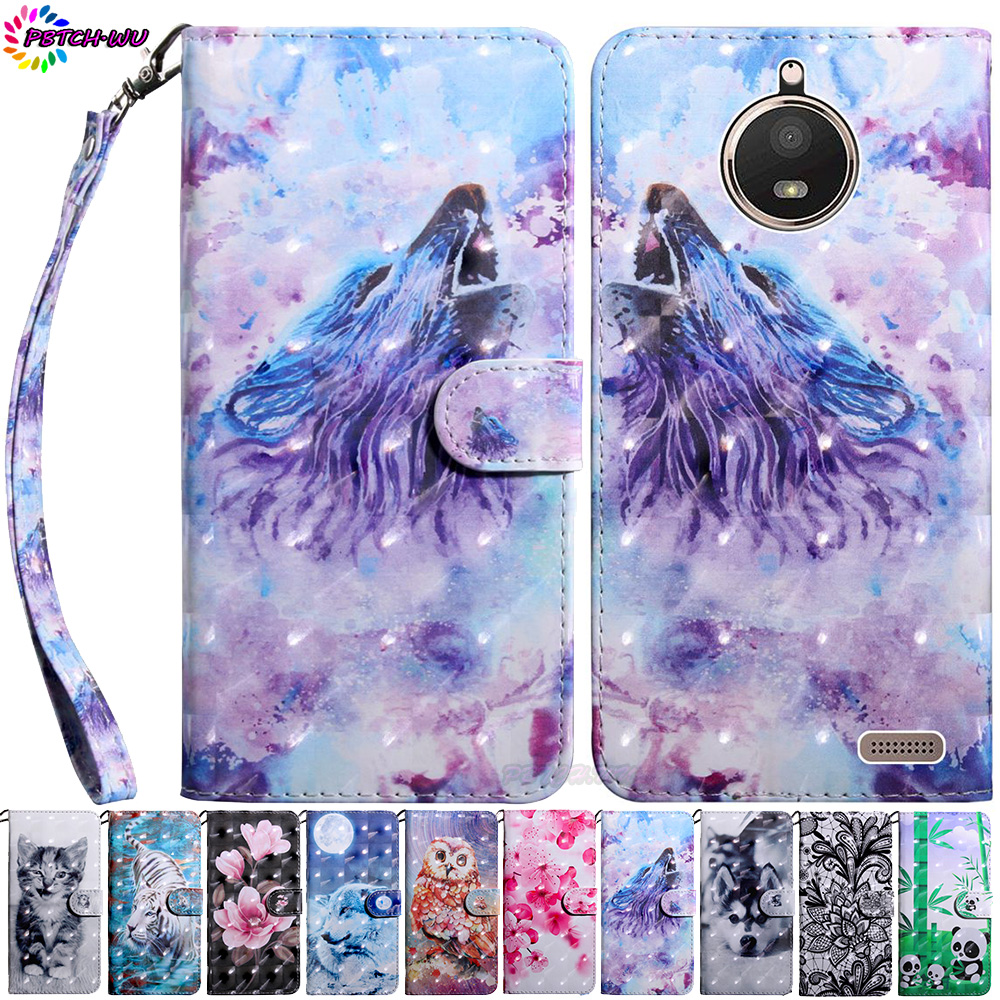 Phone <font><b>Case</b></font> For Motorola <font><b>Moto</b></font> <font><b>E4</b></font> <font><b>XT1761</b></font> XT1762 XT1767 Flip Wallet PU Cover For <font><b>Moto</b></font> E Gen 4 XT1765 XT1766 XT1763 3D Painted Box image