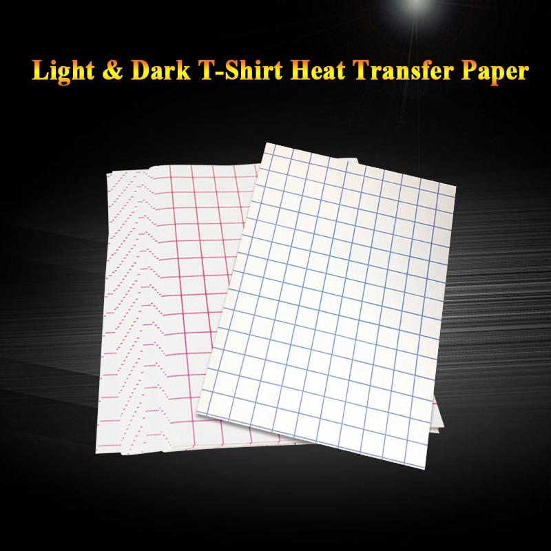 A4 T-Shirt Sublimation Heat Transfer Photo Paper Light Dark Black Fabric Transfer Paper For Cotton Garment