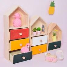 Нордический деревянный ящик из натурального дерева для детской