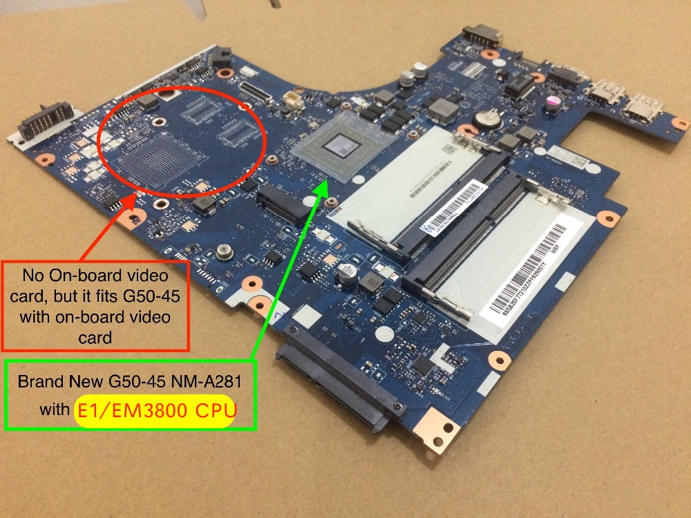 Free Shipping New For Lenovo G50-45 ACLU5 ACLU6 NM-A281 Notebook Motherboard