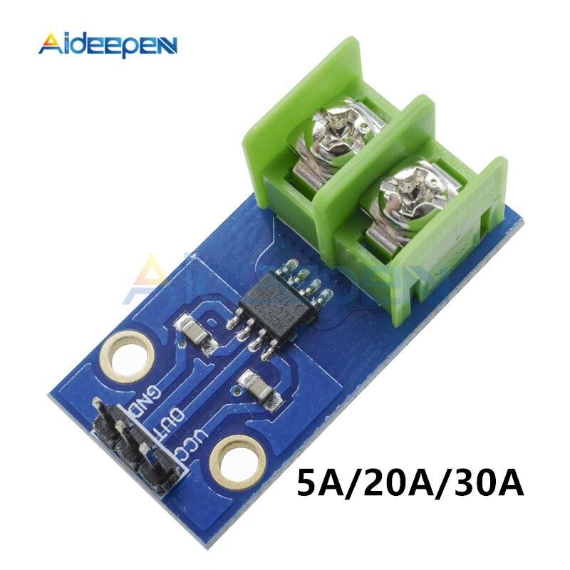 DC 5V GY712-5A/20A/30A Current Sensor Module ACS712ELC IC Chip Replace ACS712 5A 20A 30A Hall Current Sensor Module For Arduino
